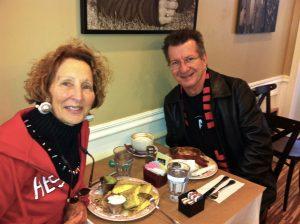 Us having breakfast in 2012.