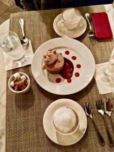 cappuccinos & dessert