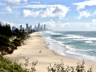Looking towards Surfers Paradise.