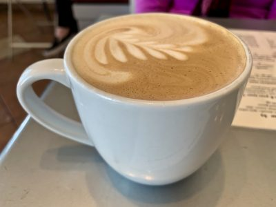 Fabulous Latte made with Italian Tuscany coffee beans.