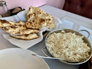 Rice and Naan bread