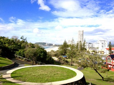 View from Top of walk in Burleigh